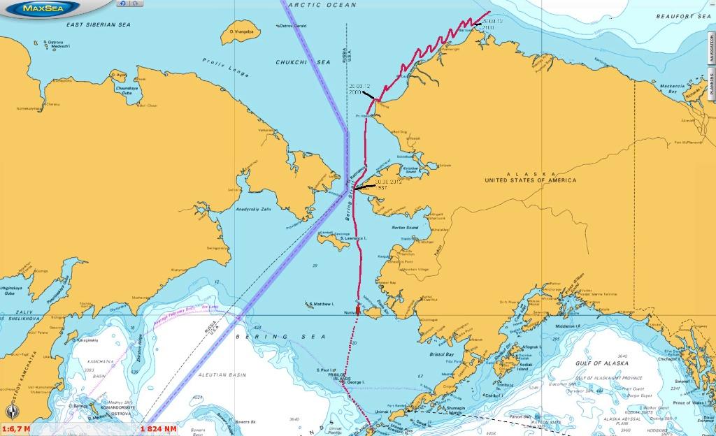 S V KATHARSIS II Pt Barrow to Dutch Harbor