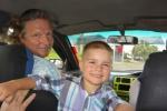 Mariusz i antek w taksówce w Suva