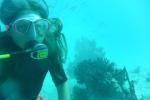 Oleńka dzielnie oddycha pod wodą