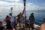 przygotowania do nurka w Somosomo Strait bez groźnych fal
