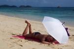 Zośka na plaży