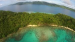 Matagi z drona - w tle wyspa Qamea