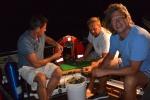 Jarek, Tomek i Mariusz przy akcji ostryga