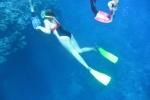 pierwsze próby freedivingu Zośki na Astrolabe Reef