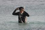 dziadek Tomek po snorklingu