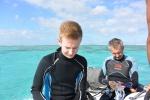 przygotowanie do snorklowania na Astrolabe Reef