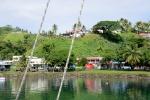 centrum Savusavu widziane z rzeki