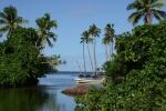 rzeka Bouma - widok w stronę oceanu