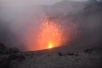 wnętrze krateru przed zmrokiem