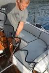 kilkugodzinne szorowanie łódki