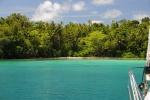 kotwicowisko przy Lumahle Island na północy Morovo Lagoon