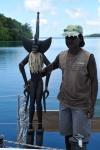 Ricky ze swoją rzeźbą ZS