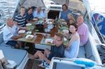 kolacja w kokpicie w Marovo Lagoon 11.09.2014