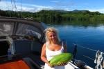 Magda z papają wyhandlowaną przez męża MT