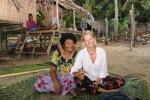 Hanuś z żoną wodza na Panasia Island 22.09.2014