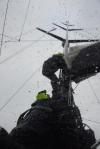 akcja zrzucania grota przed szczytem sztormu