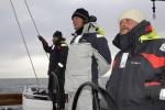 Michał, Mariusz i Tomek przy podejściu do Wyspy Franklina