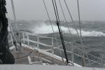 sztorm uderzył o 2100, uciekamy od sąsiedztwa lodu