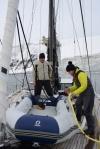 Ania z Żuchlem szykują mały ponton