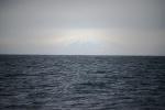 Erebus na Wyspie Rossa widoczny z odległości 85 mil morskich