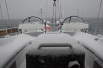 poranny śnieg na pokładzie