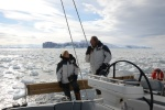 Hanuś i Mariusz na tle Cape Washington
