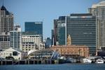 centrum Auckland widziane z wody