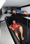 Hanuś z Wojtkiem przymierzają się do jachtu Volvo Ocean Race