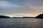 zachód słońca w Pegasus Harbour