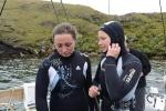 Ania i Hania gotowe na nurka