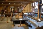łodzie maoryskie w muzeum marynistycznym w Aulckland