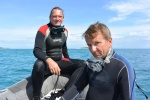 Kuba i Zbyszek w drodze na zewnątrz rafy Horrara Gowan Reef