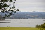 widok z Waitangi na Bay of Islands