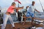 pierwszy mały tuńczyk na pokładzie
