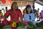 Mariusz i Agnieszka na obiedzie we wiosce