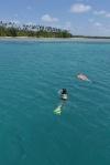 Aga i Ola na snorklu przy Logan Island
