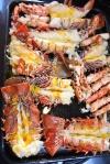 pierwsza partia homarów po wyjęciu z piekarnika - chyba się najemy PK