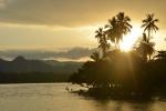 zachód słońca oglądany z kotwicowiska w Nagada Harbour 1
