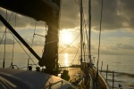 zachód słońca na Spokojnym Oceanie 10.08.2015