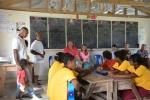 na spotkaniu z uczniami w szkole