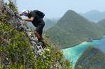 Mariusz wspina się na sam szczyt Mt Pindito MB