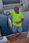 pierwszy skromnych rozmiarów tuńczyk w tym rejsie