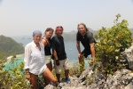 Hanuś, Weronika, Misio i Mariusz na szczycie Mt Pindito