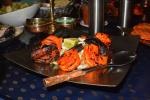 krewetki z tradycyjnego indyjskiego pieca