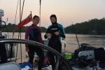 Weronika i Hania gotowe na nocnego nurka