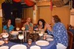 Ania, Michał, Kasia i Mariusz na kolacjii w Taj