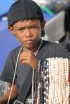 młody handlarz pereł