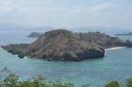 widok na sąsiednią wyspę ze szczytu góry ZS
