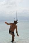 Zbyszek wraca ze snorklowania