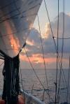zachód słońca przed Malediwami 05.05.2016